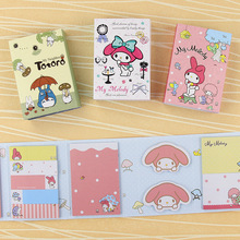 1 PC Kawaii Totoro Cute Melody 6 Folding Memo Pads Sticky Notes N Times Posted Gift Stationery