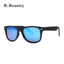 Best Quality Fashion Brands Polarizer UV400 Sunglasses Elastic paint frame Men Women R.Bsunny R2140 HD Color film Sunglasses(China)