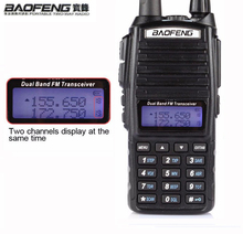 HOT Portable Two-way Transceiver Radio Walkie Talkie 10 km CB Ham Radio amateur For Vhf Uhf Dual Band UV 82 UV82 Baofeng UV-82(China)