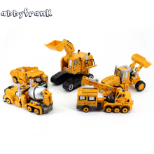 Engineering Transformation Car Toy 2 in 1 Metal Alloy Construction Vehicle Truck Assembly Robot Car Kid Toys Boys Gifts
