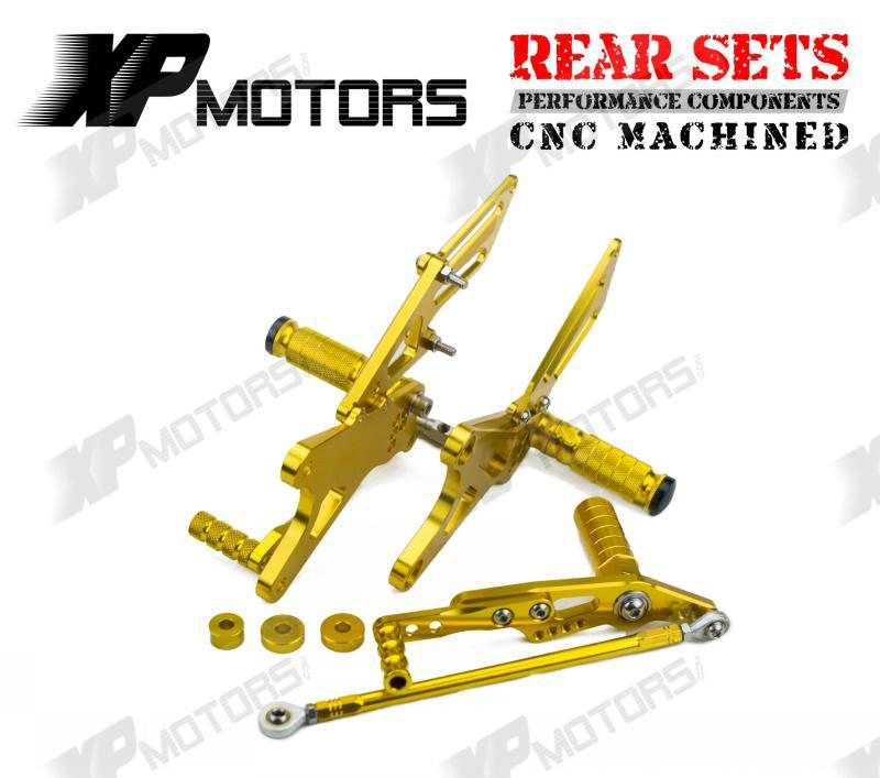 New Arrived CNC Adjustable Foot pegs Rearset Rear Sets Fit For Yamaha YZF-R1 LE 2009 2010 2011 2012 Gold<br><br>Aliexpress