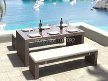 2017 Hot sale outdoor large rattan wicker royal design dining table sets(China)