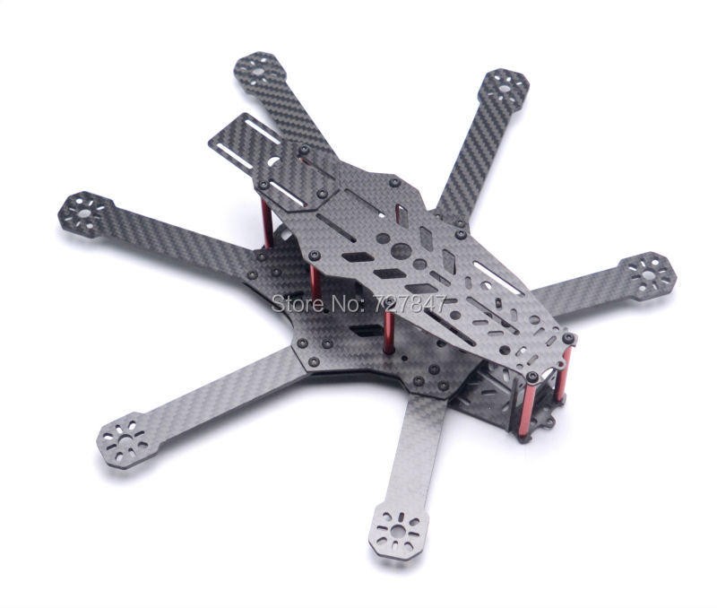NEW RD290 Mini 290 290mm Hexacopter 6 Axles FPV Racer Pure Carbon Fiber<br>