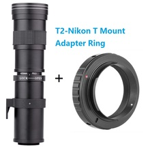 Buy LightdowLightdow 420-800mm F8.3-16 Telephoto Manual Zoom Lens+T2-Nikon T Mount Ring Adapter Nikon D5100 D5200 D7100 D3400 for $95.31 in AliExpress store