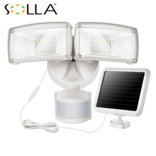 Waterproof 10W Solar powered LED Flood light with 4.5M wire+3.7V/1500mah battery 48LED Sensor Solar Light Garden Camp lamps(China)