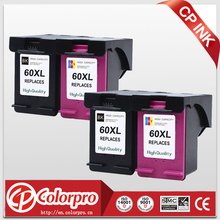 2Black+2Color for HP60XL HP60 Ink Cartridge for HP Deskjet D1660 D2500 D2645 D5560 F2400 F4200 F4400 for HP 60 HP 60XL(China)