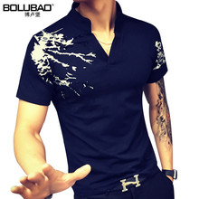 2017 New Arrival Brand Clothing Spring Men Polo Shirt Fashion Printed Short Sleeve Men Shirt Casual Slim Fit Polo Men Size M-5XL