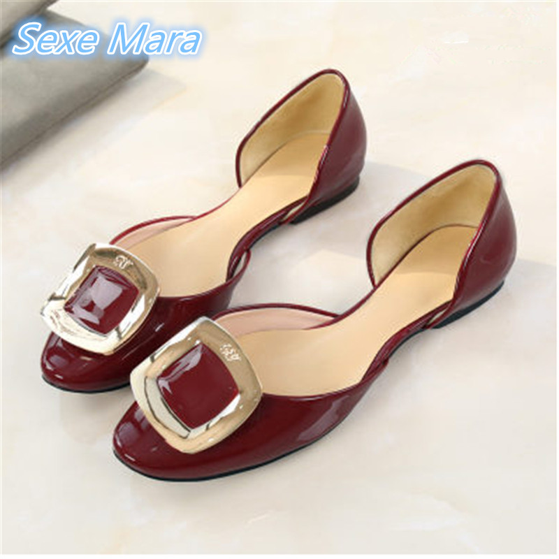2017 brand zapatos mujer flat shoe comfortables female spring and summer hollow single buckle with fashion shoes shoes woman<br>