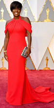 Viola Davis Halter Neck Red Celebrity Dresses 89th Annual Academy Awards Red Long Sleeveless Evening Dress Prom Party Gowns
