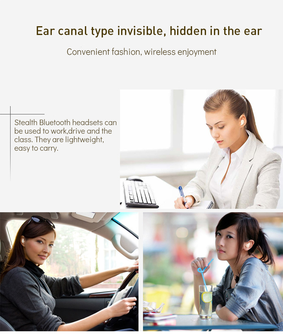 Wireless Earphones Bluetooth Noise Cancelling Bluetooth Earphone Sport Wireless Headset Mini Earphones For Samsung Galaxy (6)