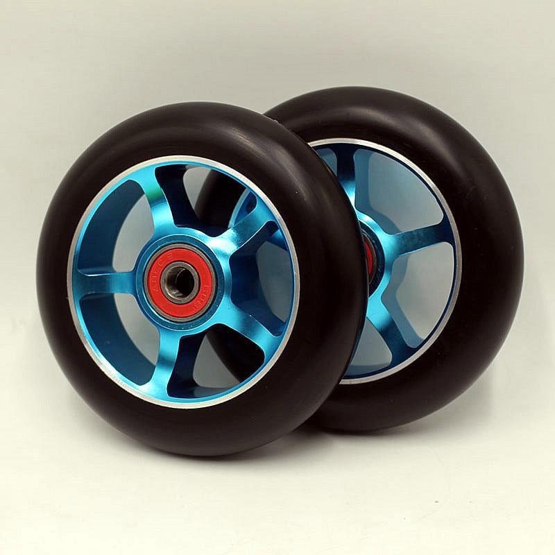 Free shipping! 2PCS 100x24mm 88A super High Rebound PU Stunt Scooter Wheel<br><br>Aliexpress