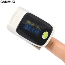 CAMMUO Creative Portable Fingertip Pulse Oximeter OLED Finger Clip Oximetro SPO2 Blood Pressure Test Monitor Digital Display