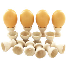 Kitchen Dinning Table Pretend Play Toys DIY Craft Home Decor Wooden Drawing Model Egg Cup Holder Easter Painted Graffiti Tools(China)