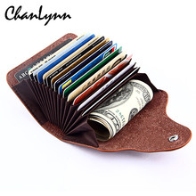 Buy 2017 New Genuine Leather Women Men ID Card Holder Card Wallet Purse Credit Card Business Card Holder Protector Organizer for $6.06 in AliExpress store