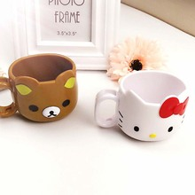 300ML Free Shipping Kawaii Hello Kitty Bear Water Cup Cartoon Mug Kids Novelty Coffee Cups Milk Tea Mugs