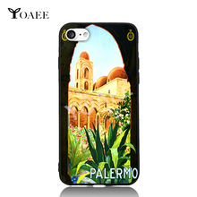 Pop Art Travel to Italy Palermo For iPhone 5 5s SE 6 6s 7 Plus Case TPU Phone Cases Cover Mobile Protection Decor Gift