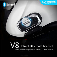Vimoto Brand V8 Multi-functional Bluetooth for mobile phone and GPS way radios Motorcycle Helmet Bluetooth Headset(China)