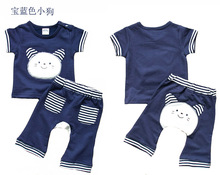 Mom's care Summer 2 PCS Set Baby Clothes 100% Cotton Short Sleeves T Shirt + Pants Childrens Suit Infant Boys Girls Sets