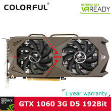 Colorful NVIDIA GeForce GTX 1060 GPU 3GB GDDR5 192bit PCI-E X16 3.0 VR Ready Gaming Video cards Graphics Card 1708MHz for CS GO(China)