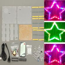 New Arrival Colorful Star Shape Module DIY Kit Led Light Forme Infrared Remote Control Diode(China)