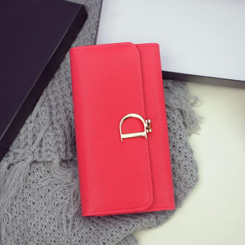 Fresh Style Mei Red Womens Wallets Clutch Long Design Purse Bags Handbag Fashion Women Purse Standard Wallet st366-9 <br><br>Aliexpress