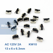 20Pcs AC 125V 2A NO NC Momentary Short Hinge Lever Arm Micro Limit Switches KW10