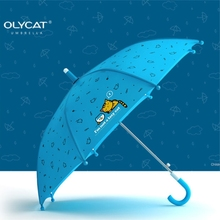 OLYCAT Hot Lovely Cartoon long umbrella Children Anime Umbrella for Kids Girl Cute Umbrella Baby Student White Umbrella(China)