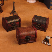 9cm antique storage box candy box small box retro wooden jewelry box factory wholesale crafts(China)