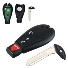 Brand New Black Uncut Replacement 4 Btn Keyless Entry Car Key Fob Remote Start for Fobik Chrysler Dodge Ram VW