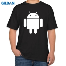 Fashion Men T Shirts Android Robot Male t-shirt apple humor logo printed t shirt short sleeve Round Neck Ringer Tees