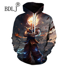 2018 Dragon Ball Hoodie 3D Sweatshirt Men Women Dresses Fashion Casual Pullover Anime Hoodies Hooded Jackets Drop Shopping(China)