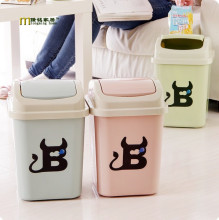 1PC Longming HOme New Arrival cute desktop to receive clamshell small garbage can Garbage Bin Plastic Trash Containers OK 0225(China)
