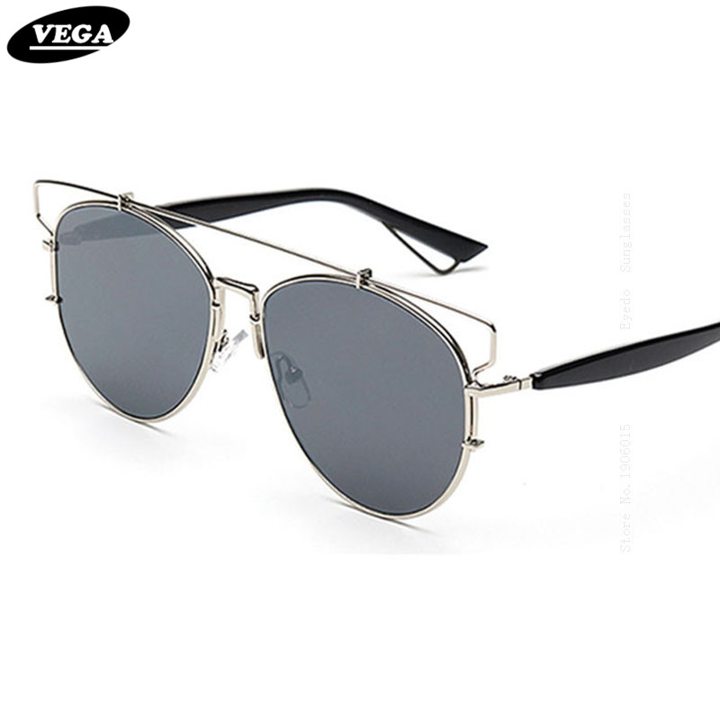 VEGA Latest Fashion Vintage Sunglasses Women Men   Trendy Eyeglasses Coating Mirror Shades Flat top oculos de sol 1511<br><br>Aliexpress