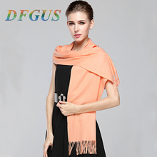 Winter luxury Brand Plaid Cashmere Scarf Women Oversized Blanket Scarf Wrap Warm Scarf Women Pashmina Shawls and Scarves(China)