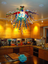 Fancy Chihuly Handmade Blown Glass Bubbles Chandeliers Restaurant Dining Room Decor LED Chandeliers(China)