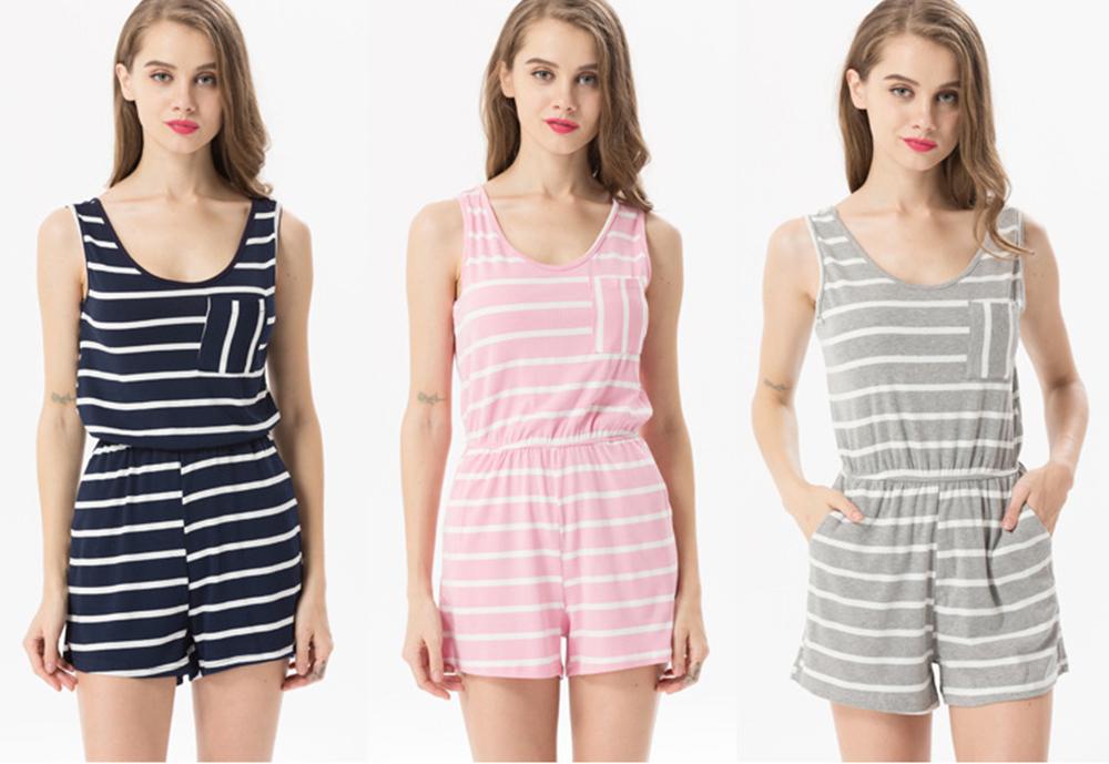Siskakia mody młodzieżowej Letnie nastolatek dziewczyny Playsuit Przebrania paski patchwork slim fit krótkie elegancki 100% bawełna odzież różowy 6