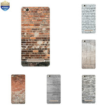 Silicone For Xiaomi Redmi 4 Pro Phone Case for Redmi 4A 4X Shell Transparent for Hongmi 4 4S Bumper Cover Brick Pattern