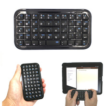 Black Ultra Slim Mini Bluetooth 3.0 Keyboard for iPhone 7 Plus Samsung S7 / PS3 / PC / PDA   QJY99
