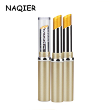 NEW NAQIER Metallic Pearlescent Non Fading Lip Color gilt lips Long Lasting Lipstick Gold Lipstick Metal Color Lip Makeup(China)