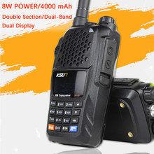 KSUN X-UV10D Walkie Talkie Portatile VHF UHF Two Way Ham Radio Transceiver dual band Palmare Walkie Talkie two Way Communicator