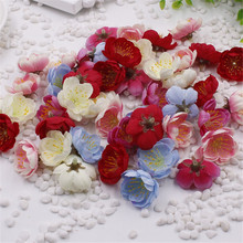 10PCS Mini Fabric Cherry Plum Blossom Artificial Flower Silk Baby Breath Floral Bouquet,Table Arrangements Weddding Decorations