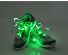 Newest styles 100 Pair/lot Nylon Glowing LED Shoe laces shoestring,Best Price Disco Flash light up LED Shoelace