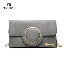 HJPHOEBAG 2017 Hot sale women shoulder bags Fashion solid cover bags for girls Ladies More color PU leather crossbody bag XB-S52(China)