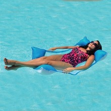 Premium Swimming Pool Float Hammock Lounge, Hammock Pool Mesh, Aqua/White(Discontinued by manufacturer)(China)
