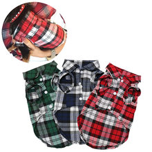 Plaid Dog Clothes Summer Dog Shirts for Small Medium Dogs Pet Clothing Yorkies Chihuahua Clothes Best Sale 11by20S1(China)