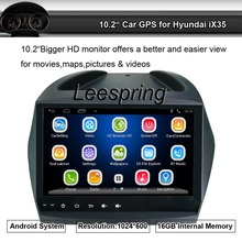 Android System Suit to Hyundai ix35 Radio Stereo Player Built-in GPS Bluetooth Wifi Support Smartphone Mirror-link,Android App(China)