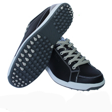 Men original  Golf shoes male waterproof anti-slip shock absorption sports shoes men mirofiber leather athletic shoes