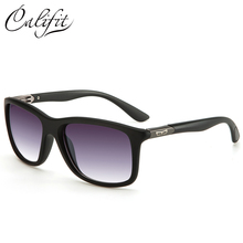 CALIFIT Black Frame Sunglasses High Quality Brand Design Shades Driving Sun Glasses Cool Men Eyewear UV400 Gradient Lens Oculos(China)