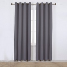 NICETOWN Room Darkening Blackout Drapes Grommet / Back Tab Rod Pocket / Hooks Top / Pencil Pleat Window Curtain for Living Room