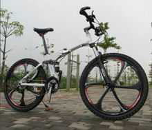 Kalosse Soft-tail frame  folding mountain bicycle   26*2.125 Tires  Hydraulic brakes  21/24/27/30speed , tyre dirt bike